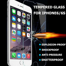 2.5D 0.3mm Premium Tempered Glass Screen Protector for iPhone 6 6s Toughened protective film For iPhone 6 4.7inch