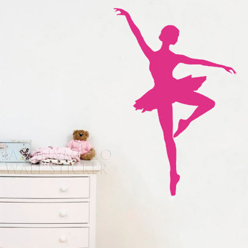 ballet ballerina dancer dancing sports wall stickers decor