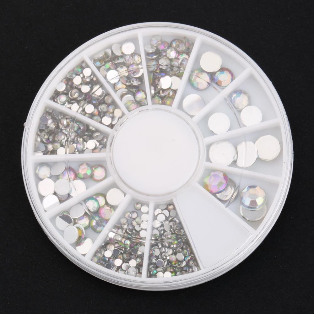 1set 2015 New Style 300PCS 3D Design Nail Art Tips Rhinestone Decoration Wheel Tools For Beauty DIY Glitter Diamond Gems Tips(China (Mainland))
