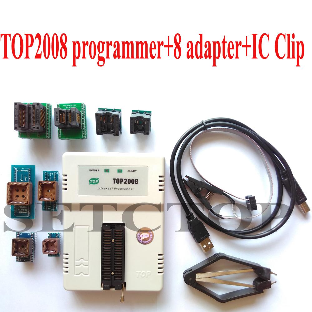 Top2008 USB universal programmer +8 adapter+ IC clip EPROM MCU GAL PIC adapter scoket(China (Mainland))