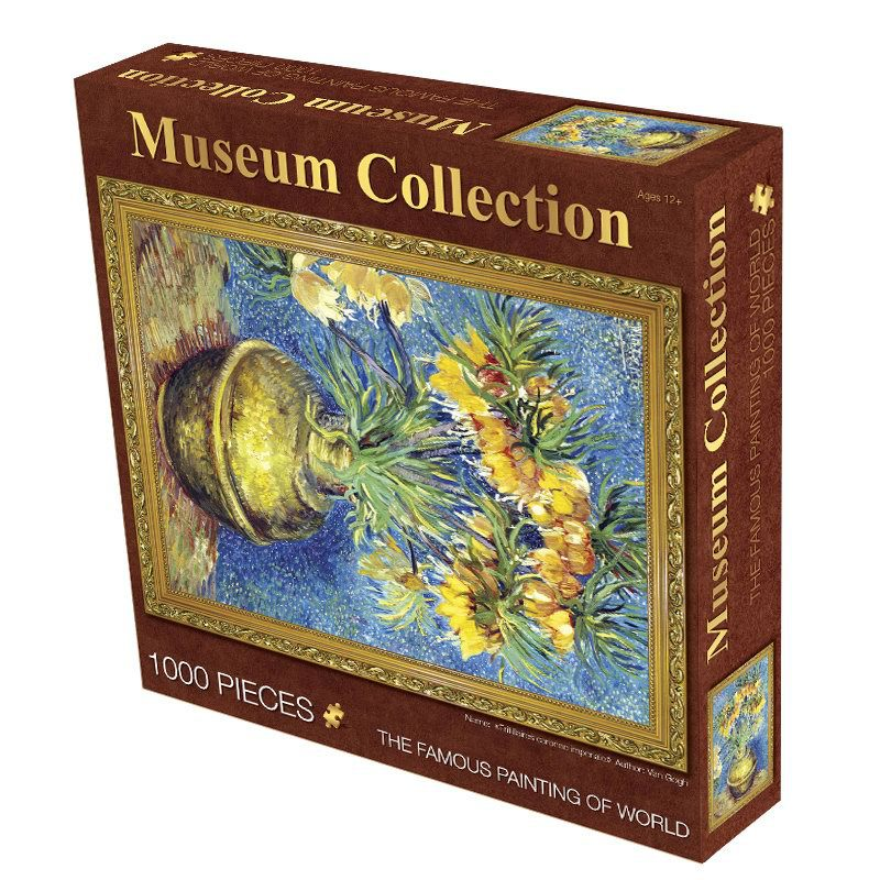 Old Master Jigsaw Puzzles 1000 Pieces High Quality Paper 70*50cm Famous Paintings Museum Collection Fritillary Flower van Gogh(China (Mainland))