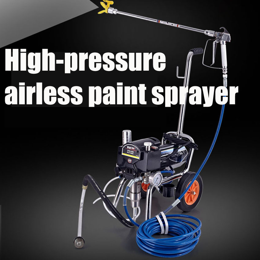 Free DHL 1PC Professional airless electric piston paint sprayer with spray gun heavy-load painting equipment with extend pole(China (Mainland))