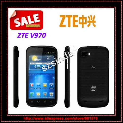 original ZTE V970 MTK6577 Dual-Core Android 4.0 1GB/4GB ROM 4.3inch IPS Capacitive Screen 5.0MP camera Phone / Anna(Hong Kong)