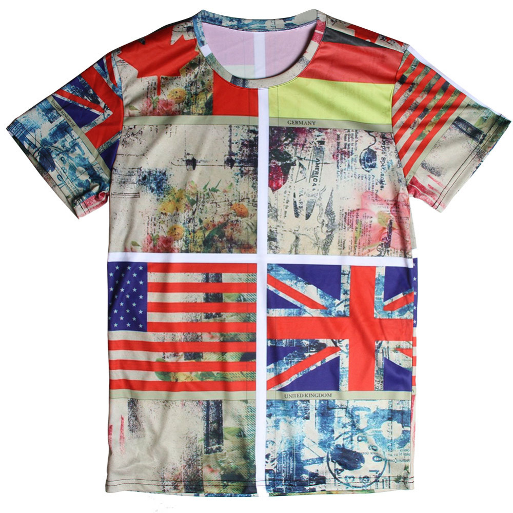 New Arrival Flag Printed T Shirts 3d Men T Shirt Cool Male