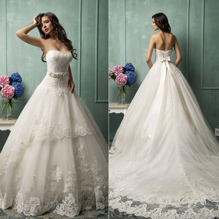 Hot sale vintage a line wedding dresses 2015 spring for Old wedding dresses for sale