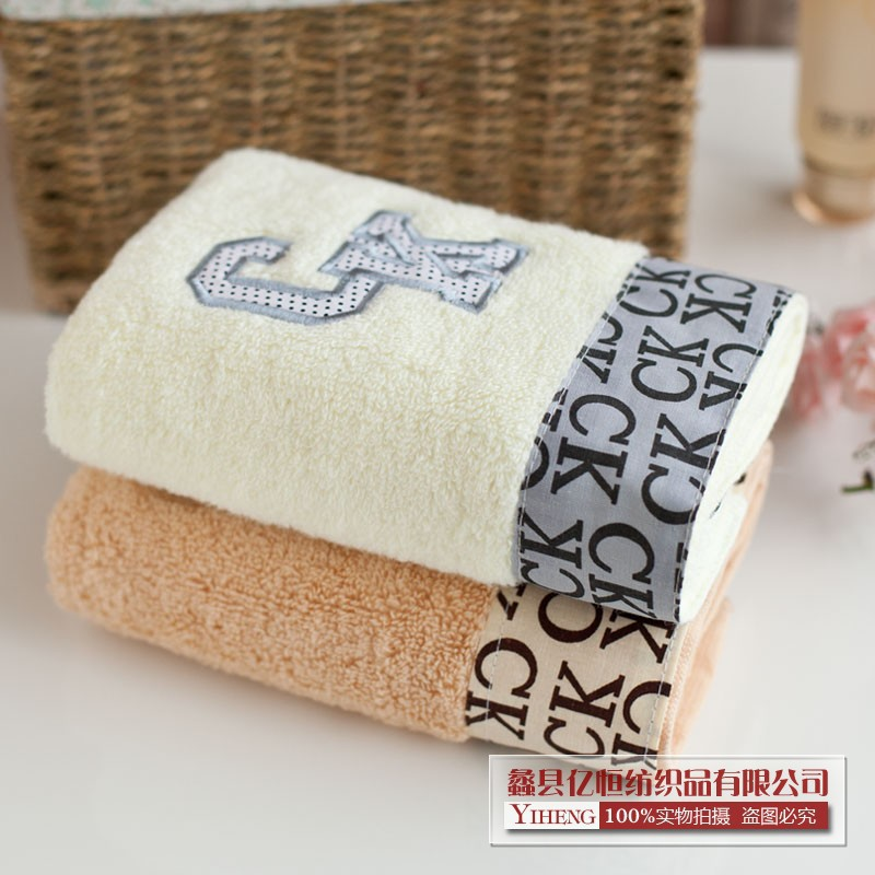 Free shipping Wholesale&Retail 1pc*34*75cm New Products Sell Like Hot Cakes Recommended 100% Bamboo FiberCK Letter Word Towels(China (Mainland))