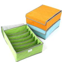 Multi Box, Bamboo Charcoal Antibacterial Moisture 7 16 Lattice 24 Grid Color Underwear Socks Box Green Travel Bag(China (Mainland))