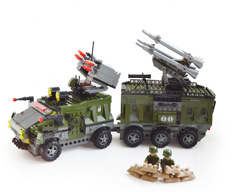 Ausini Military Seried Building Blocks Missle War Chariot Construction Sets Assembling Hot Toy Boy Christmas Gift - C&T Toys store