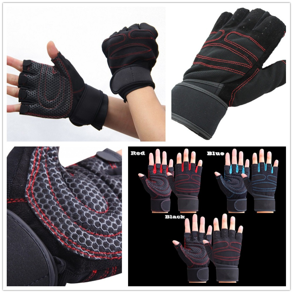 Fingerless gloves climbing - 2016 Tactical Gloves For Men Fingerless Army Gloves Climbing Bicycle Antiskid Fitness Sports Workout Gym Training