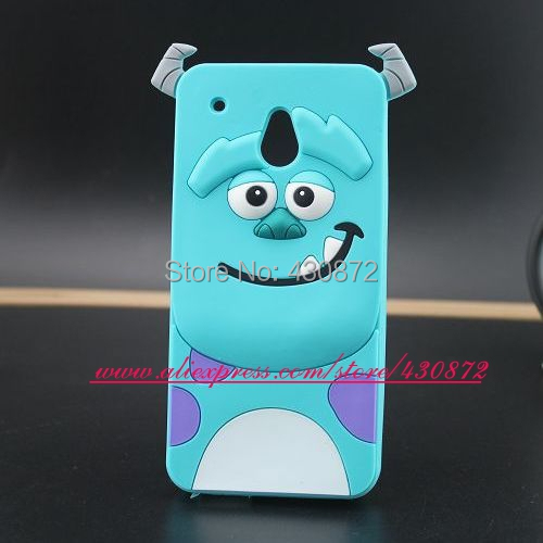 For HTC One Mini M4 Case Hot 3D Sulley Soft Sillicon Cartoon cases cover for For HTC One Mini M4 601E Free Shipping(China (Mainland))