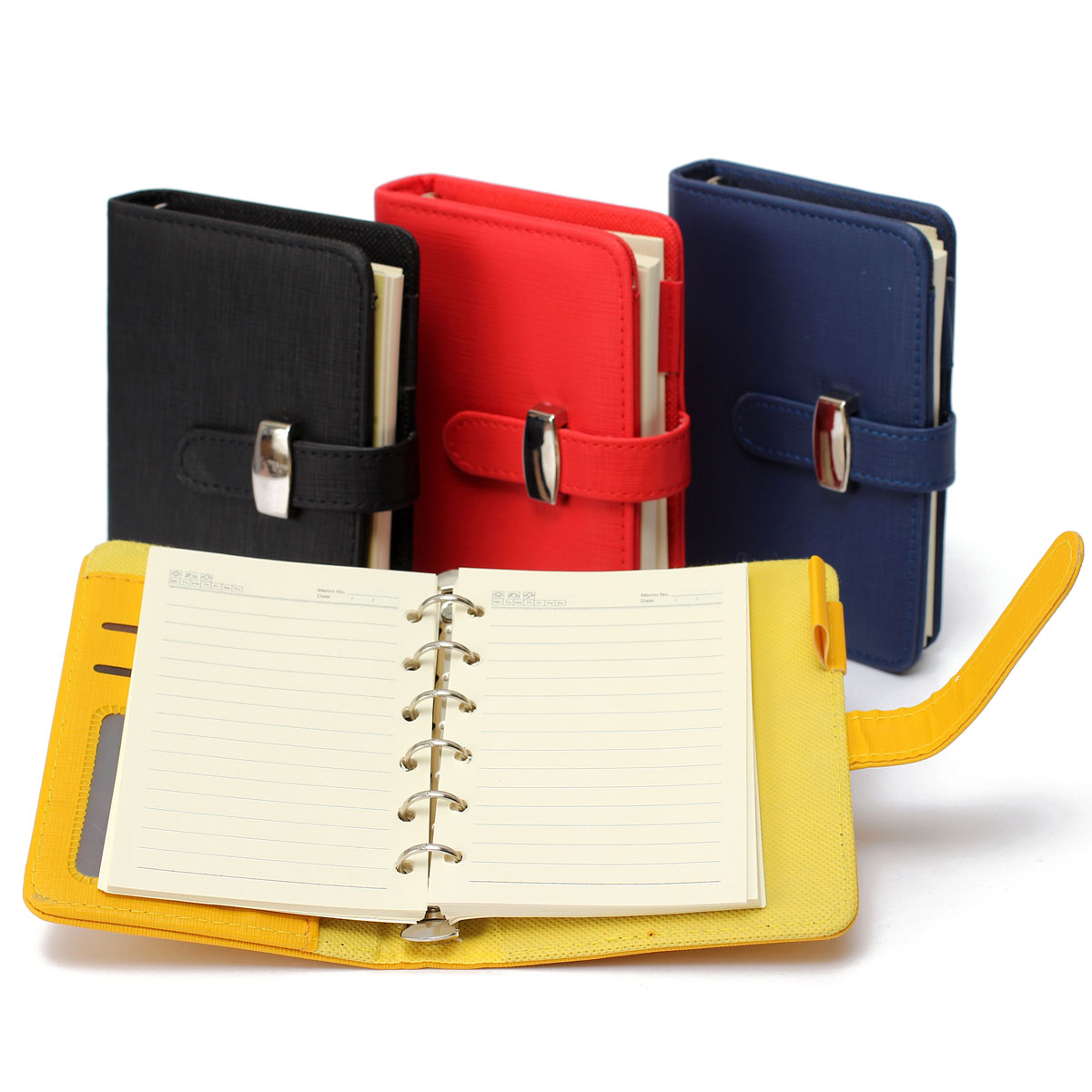 Modern Design High Quality A5 Personal Pocket Organiser Planner PU Leather Cover Diary Notebook Spiral(China (Mainland))