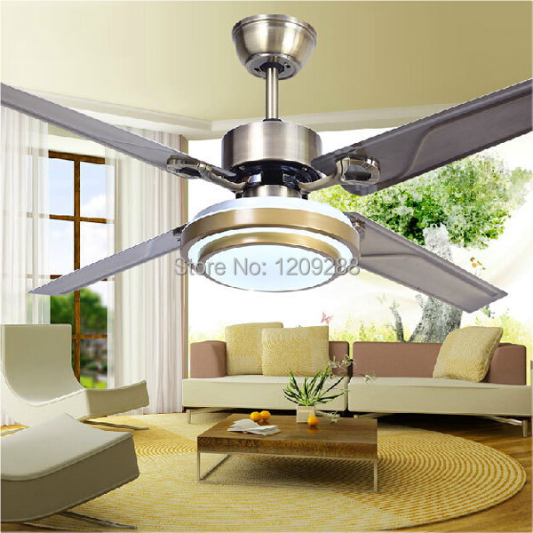 Fashion popular led ceiling fan lamp retro living room