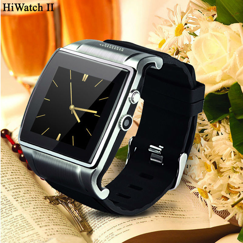 New Smart Watch Hiwatch II With 2 million pixels Camera/ Bluetooth dialer/mp3/mp4/FM/Video/Android Phone Watch Free shipping(China (Mainland))