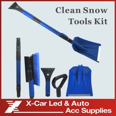 Easy Installation Car Extendable Snow Shovel/ice Scraper With Long Stick/Outdoor Removal Clean Sonw Brush Tool(China (Mainland))