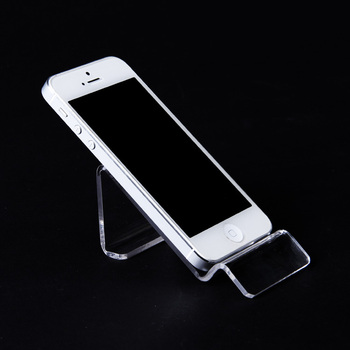 Acrylic 10 Mobile Cell Phone Display Stand MP4 MP3 Holder Sale Showcase Rack Transparent Wholesale