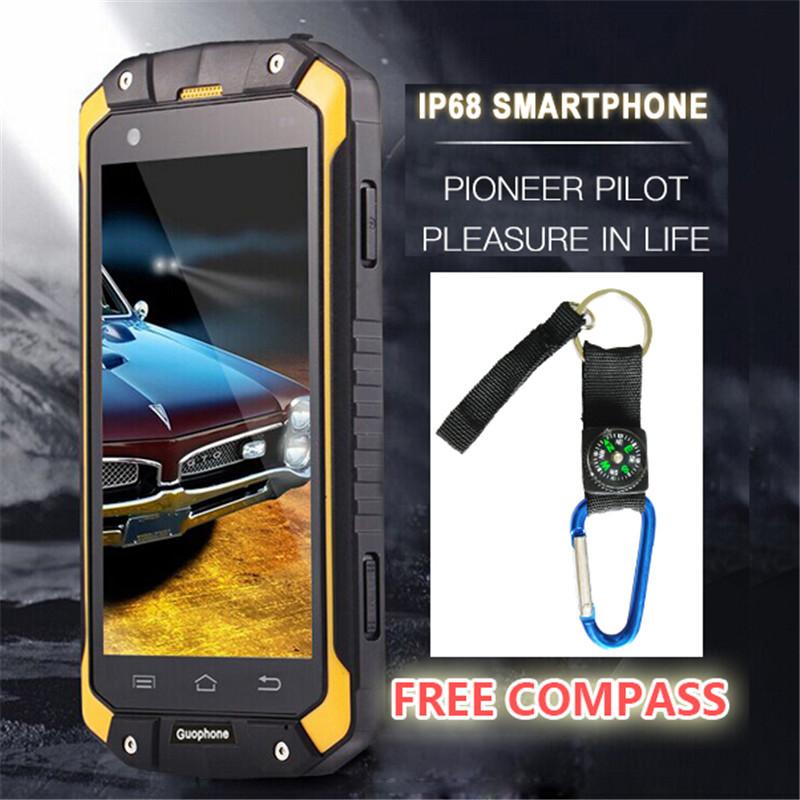 """Original 4.5"""" IPS GUOPHONE V9 IP68 Rugged Waterproof Phone MTK6572 Android 4.4 854X480 512MB RAM 4GB ROM WCDMA 3G Smart Phone(China (Mainland))"""