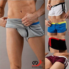 Best Selling Polyester Men Sports Comfy Exercise GYM Underwear Casual Home Pants Gay Boxers Loose Men's Swimwears Sport Shorts