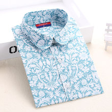 Floral Women Shirts Long Sleeve Shirt Women Tops Cotton Blusas Femininas Turn-down Collar Casual Blouse Womens Tops Fashion 2016(China (Mainland))