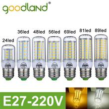 Goodland marca ha condotto la lampada e27 220 v smd5730 24 leds 36 leds 48 leds 56 leds 69 leds 81 leds 89 led di natale lampadario ha condotto la lampadina(China (Mainland))