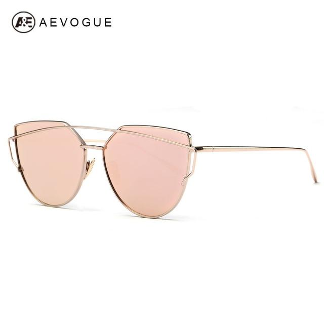 Aevogue очки женщины 2016 последним носовые упоры кошачий глаз меди кадр солнцезащитные очки марка с коробкой UV400 AE0342