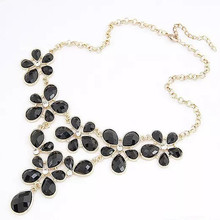 Star Jewelry 2015 New Design Fashion Flower choker Statement necklace For Women Popular Maxi Necklace Wholesale