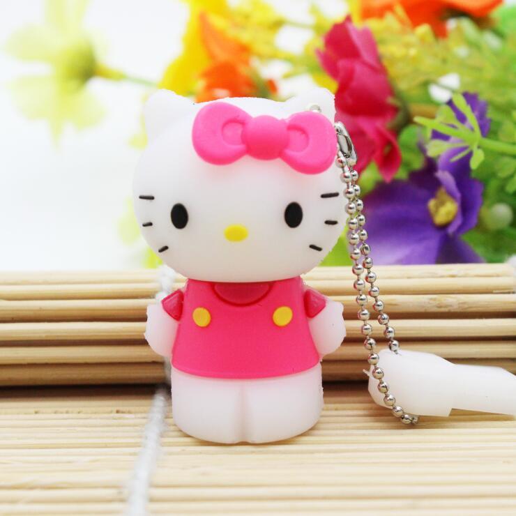 Hello Kitty Usb Flash Drive 64gb Pen Drive 32gb Pendrive 4gb 8gb 16gb Cartoon U Disk Flash Card hot sale kitty Memory stick gift(China (Mainland))