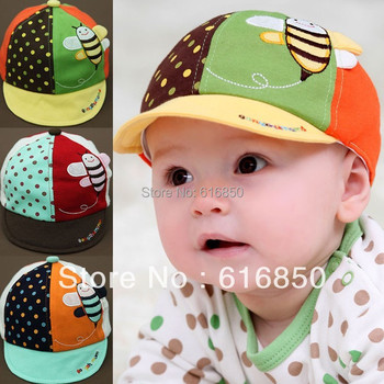 Baby Caps Soft Cotton Sun Hats For Boys Girls Infant Summer Hats Lovely Bee Style Kids Beanies Accessories