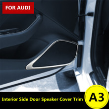 Buy Interior Side Door Speaker Decoration Cover Trim Audi A3 8V 2012-2015 4pcs for $34.30 in AliExpress store
