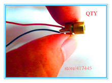 10pcs/lot mini 650nm 5mW Dot Red Laser Module 6.5mm for Projects Laser Flashlight(China (Mainland))