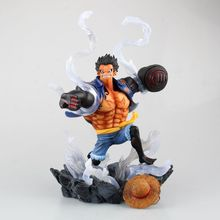 "Buy Free 10"" One Piece Anime Monkey D Luffy Gear 4 King Kong Gun SC Ver. Boxed 26cm PVC Action Figure Collection Model Toy for $53.99 in AliExpress store"