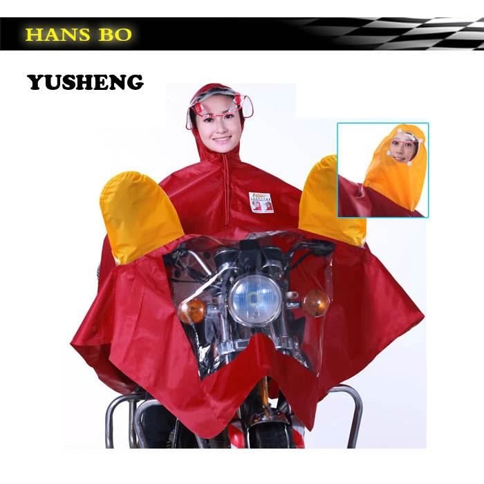Free Shipping 6 Color Man & Woman Waterproof Fission Raincoat Suit Motorcycle Raincoat Rain Cape, Poncho Wholesale Polyster(China (Mainland))
