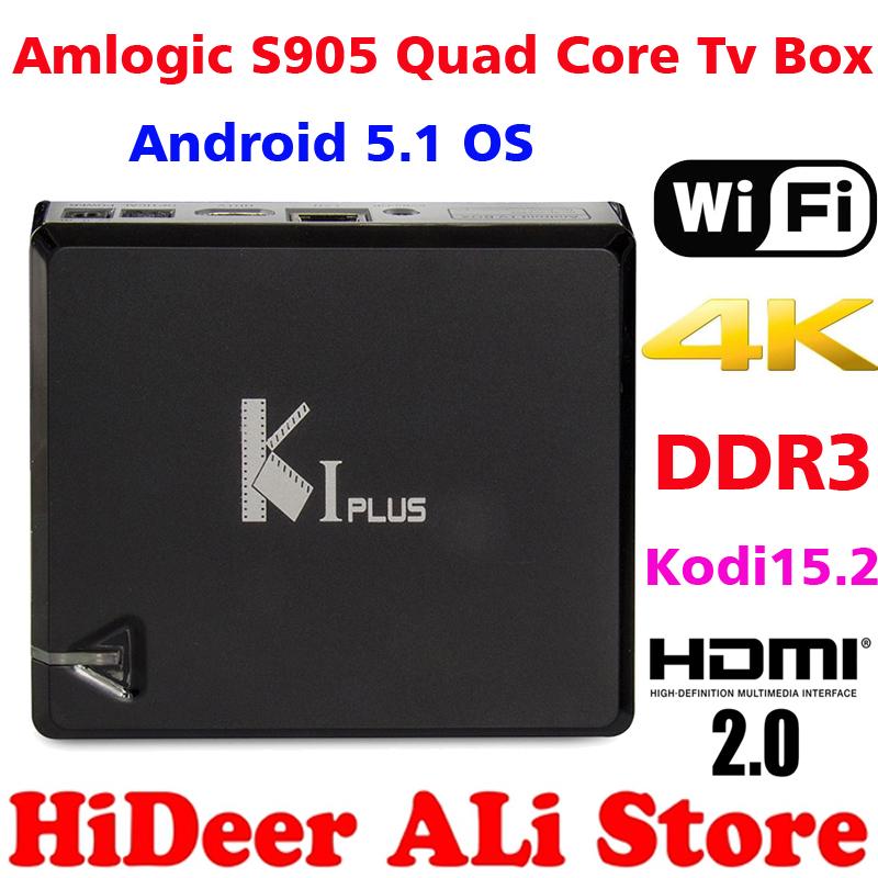 K1 Plus Amlogic S905 Android 5.1 TV Box Quad Core 1G/8G KODI15.2 Full add-ons 4K H265 HDMI 2.0 WiFi AV IPTV TV Box Media Player(China (Mainland))