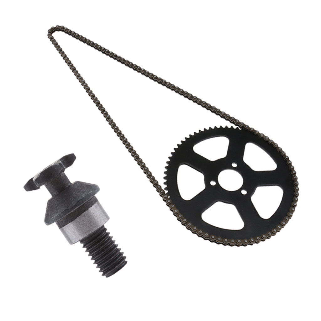 25H 68 Tooth Rear Wheel Sprocket and 68 Link Drive Chain and T8F 6T Front Sprocket Pinion for 49cc 2 Stroke Mini Bike (Black)