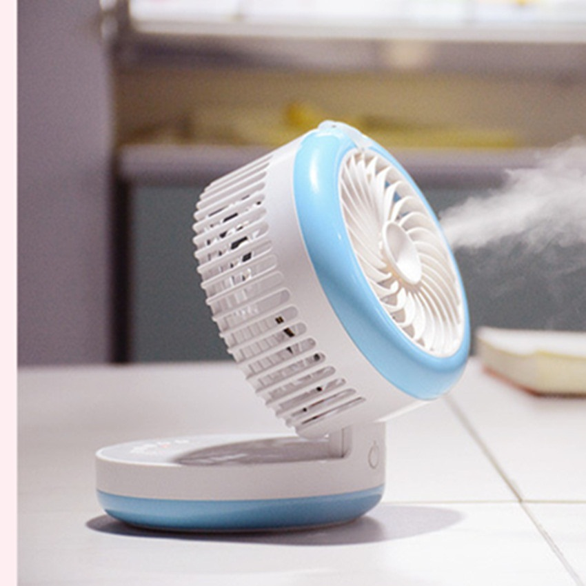 Fan Cooling Rechargeable Mini Misting Humidifier Fans Spraying Powerful Fan Office Desktop Ventilator Mobile Power Ventilador(China (Mainland))
