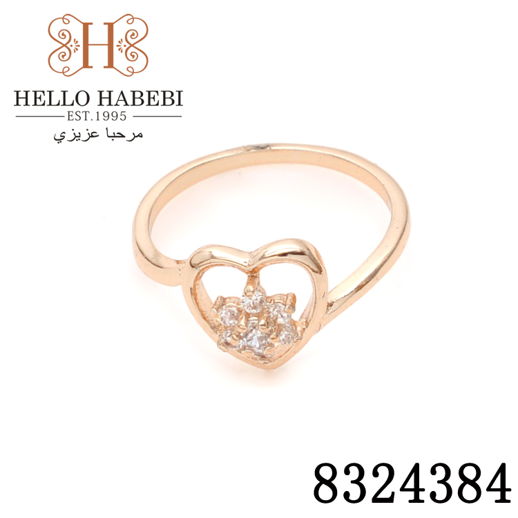 Promotion!18K CC color Gold plated Rhinestone Crystal lovely heart design ring.jewelry.amaizing price 8324384 - HELLO HABEBI Jewelry Co., Ltd. store