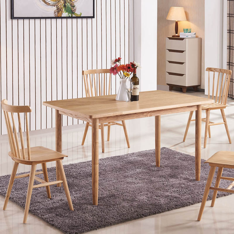 Solid oak dining room table ENGLAND NORWAY SIMPLE MODERN STYLE(China (Mainland))