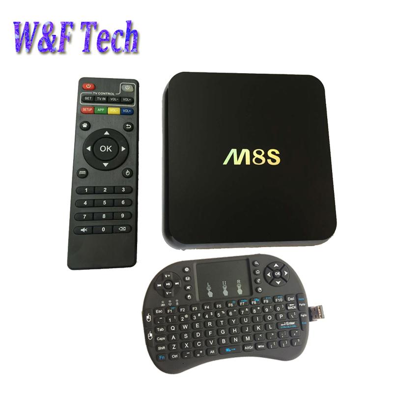 Amlogic S812 M8S tv box android 4.4 2gb 8gb HD media player duan band wifi kodi fully loaded smart tv box i8 air mouse keyboard(China (Mainland))
