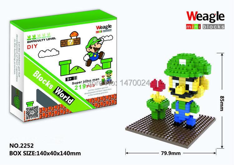 Drop price Hot Weagle small diamond building blocks children assembled toys wholesale Mario Set Educational Bricks Gift(China (Mainland))