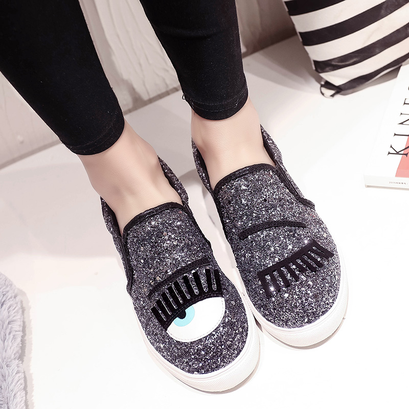 Fashion shoes woman loafers glitter flat shoes slip on shoes women flats ladies big eyes driving shoes zapatos mujer loafers<br><br>Aliexpress