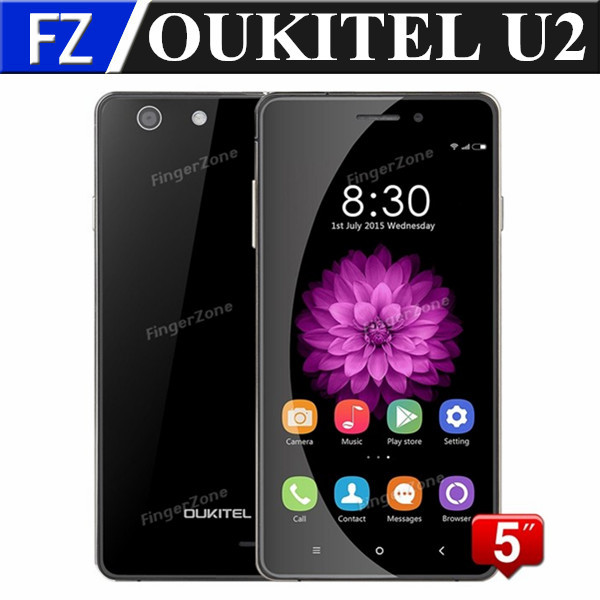 "Original Oukitel U2 Borderless 5.0"" QHD Screen Android 5.1 MTK6735 Quad Core 4G LTE FDD smartphone 8MP CAM 1GB ram 8gb rom OTG(China (Mainland))"