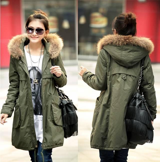 online get cheap khaki green parka jackets women alibaba group. Black Bedroom Furniture Sets. Home Design Ideas