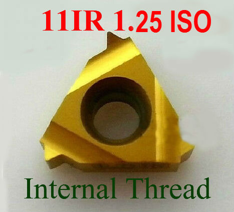 11IR 1.25 ISO Carbide Threading Inserts Internal Threading Insert Indexable Lathe Inserts Threaded Cutter Lathe Tool