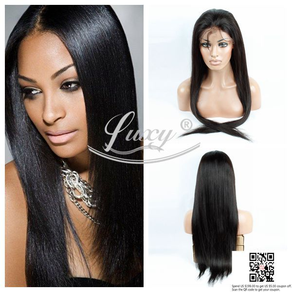 Middle part silky straight human hair lace front wigs brazilian virgin human hair full lace wigs and lace front wigs in stock