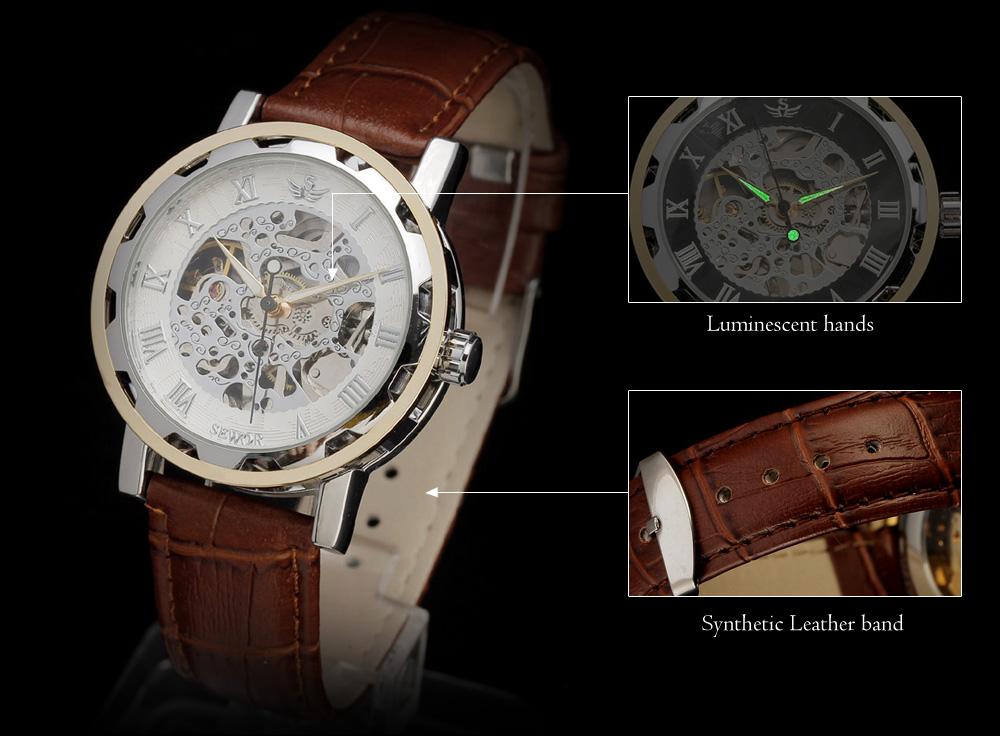 Sewor Luxury Military Watch Watch Men Stainless Steel