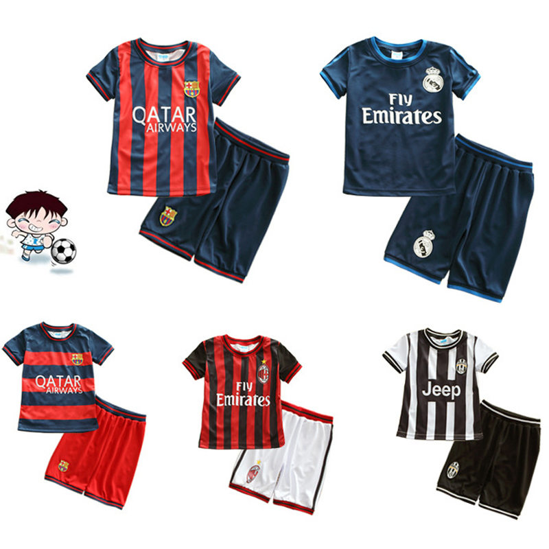 children's football sports suits summer boys girls shirt elementary training suit breathable thin of paragraph 2-8years(China (Mainland))