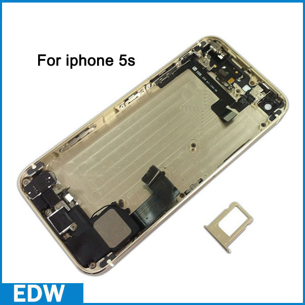 For iPhone 5s Housing Body Kit Back Cover For Iphone5s Back Housing Battery Door Assembly with Metal Middle Frame Small Parts(China (Mainland))