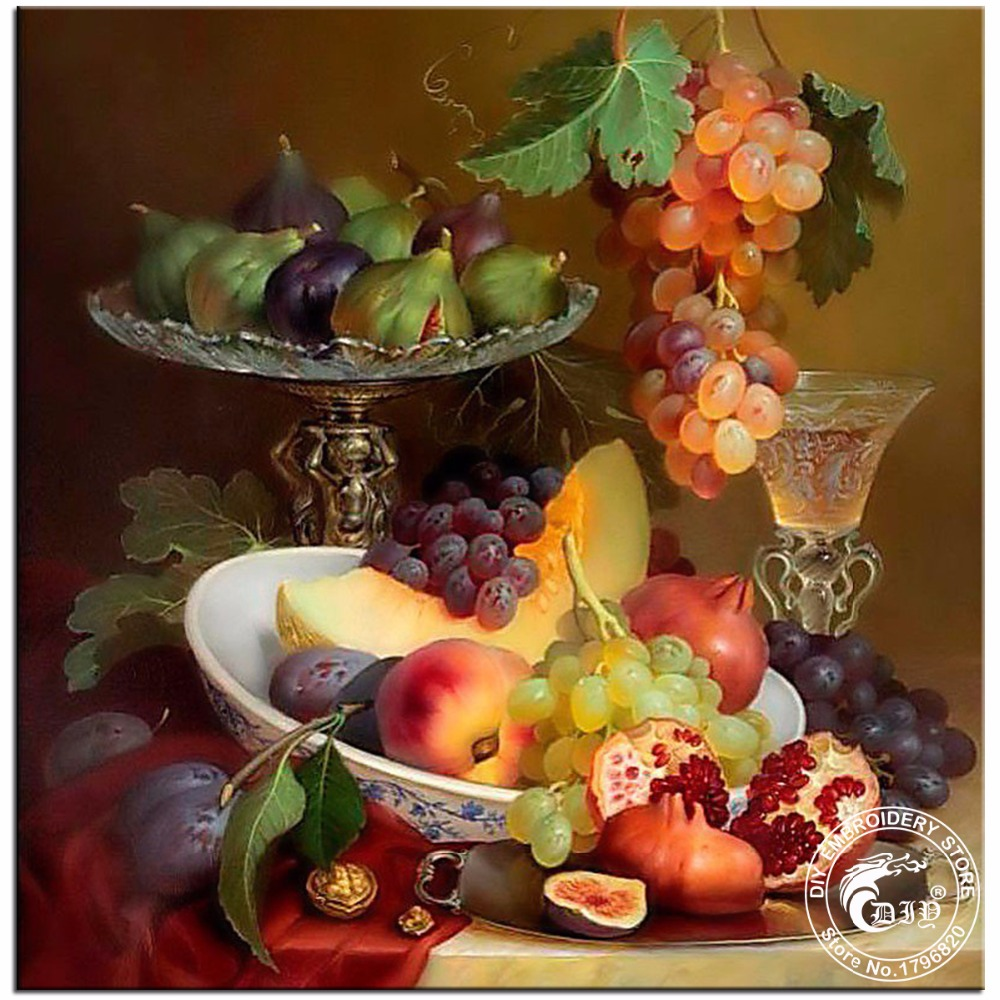 Diy Diamond Painting Diamond Embroidery Still Life With Grapes Hobbies And  Crafts Pictures Of Rhinestones Material
