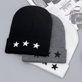 High Quality NY Pentacle Star Embroidery Warm Skull Beanie Hip Hop Knit Cap Crochet Cuff Winter