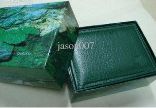 Wholesale - watches box green leather watches booklet card tags and papers in english(China (Mainland))