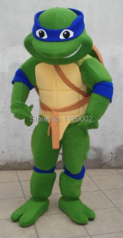 adult cosplay Teenage Mutant Ninja Turtle Mascot Costume Adult Character Costume free shipping(China (Mainland))